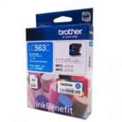 Brother LC-563C Cyan Genuine Original Printer Ink Cartridge